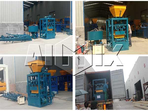 оборудование для изготовления кирпича QT4-24 на Филиппины