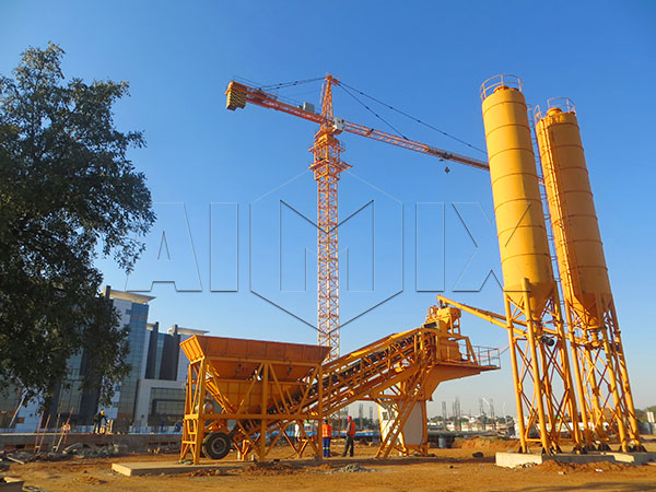 AIMIX мобильная бетоносмесительная установка цена
