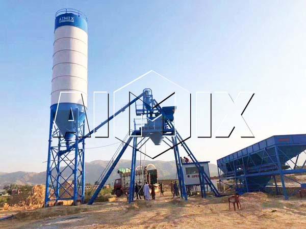 HZS25 бетонный завод установил на Пакистане