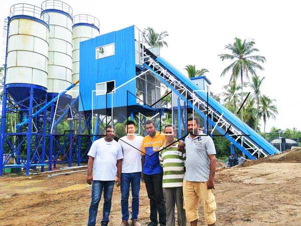 бетонный завод HZS60 на Шри-Ланке