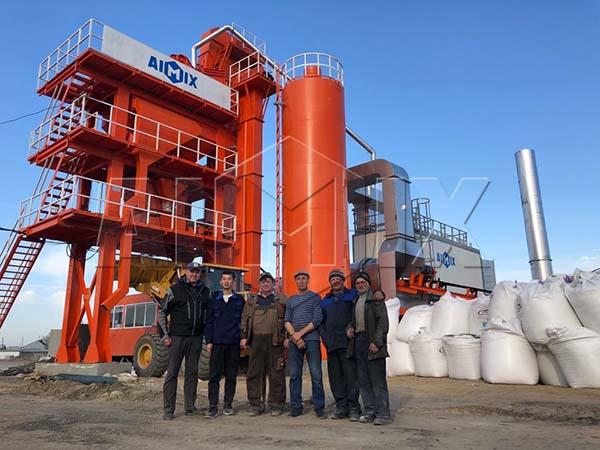 Стационарный асфальтный завод 80 тонн/час на России