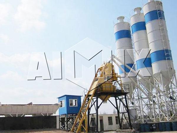 HZS35 стационарный бетонный завод цена