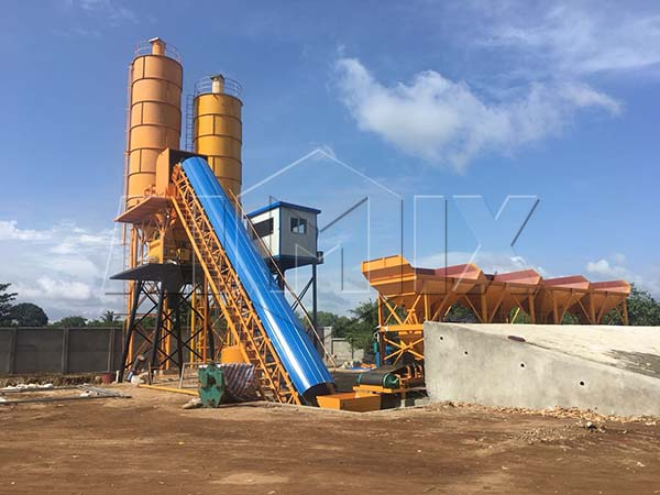 бетонный завод HZS60 на Шри-Ланкн