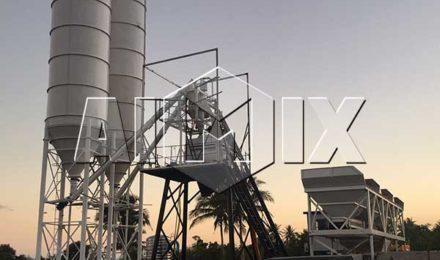 Стационарный бетонный завод HZS50 на Филиппинах