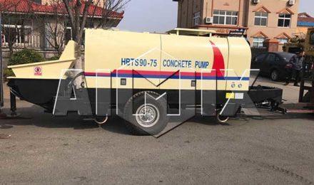 Бетононасос прицеп HBTS90 был экспортирован в Южную Корею
