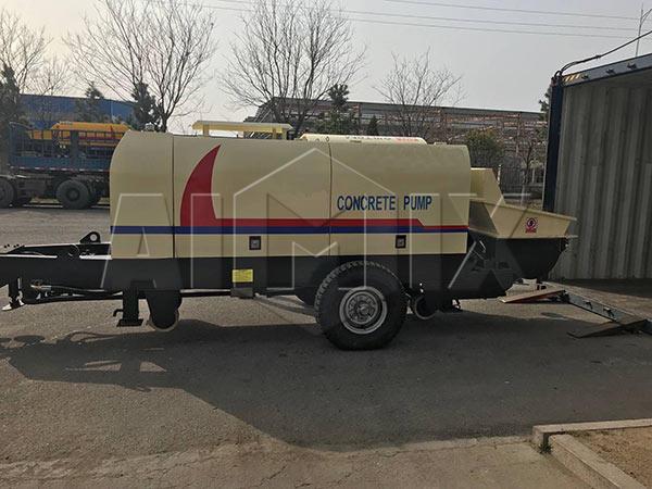 Бетононасос прицеп 90 м3/ч был экспортирован в Южную Корею
