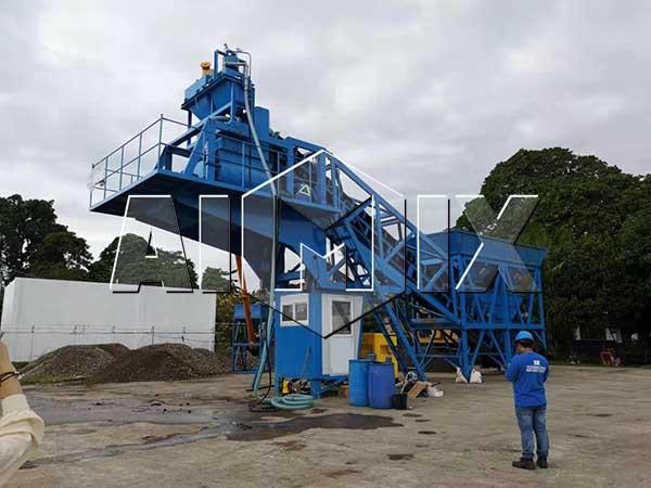 Мобильный бетонный узел 35 м3/ч на Филиппинах