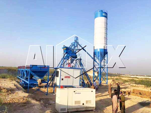 Бетонный завод 25 м3/ч в Пакистане