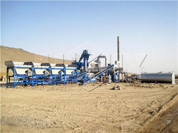 Мини асфальтовый завод в Афганистане