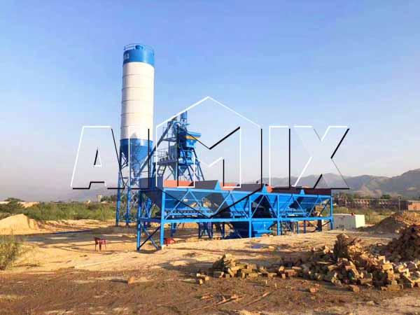 Мини бетонный завод на Пакистане
