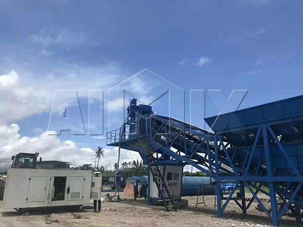 Мобильный бетонный завод на Филиппинах