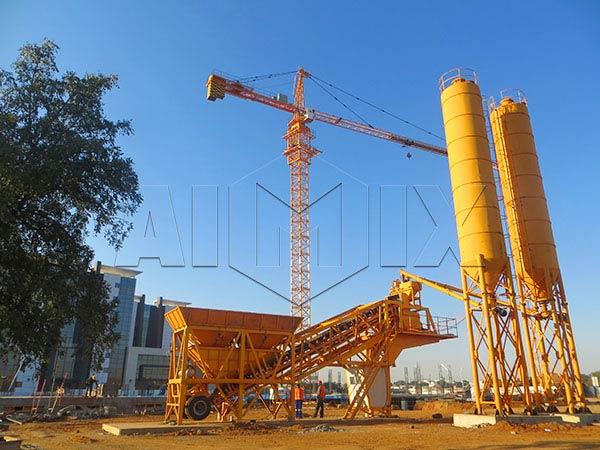 Передвижной бетонный завод цена
