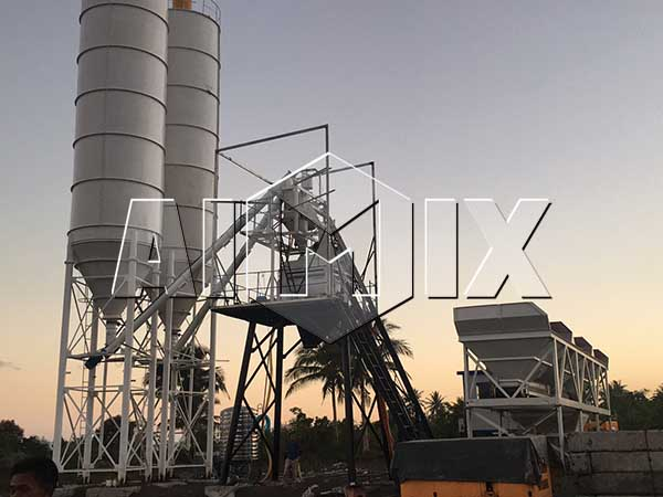 Стационарный бетонный завод 50 м3/ч на Филиппинах