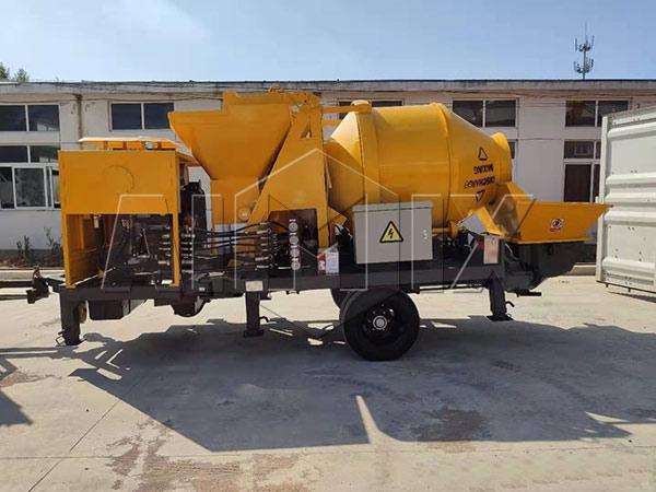 Бетономешалка с насосом 40 м3/ч экспортировалась на Ямайку