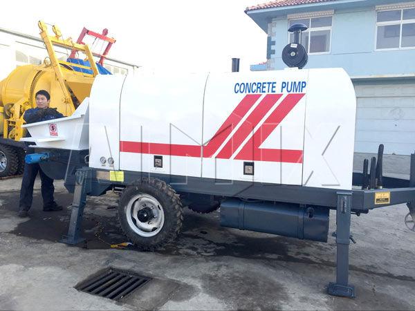 Дизельный бетононасос 60 м3 / ч на Филлипинах
