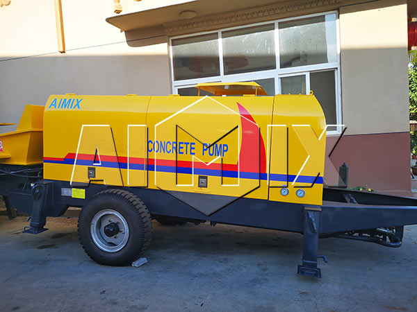 Прицепной бетононасос 60 м3/ч был отправлен в Таджикистан
