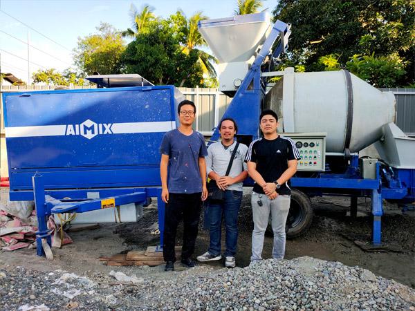 Филиппины: бетономешалка с насосом