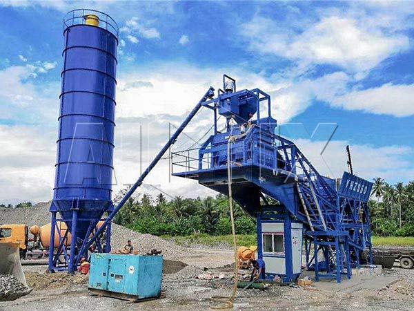 Мобильный бетонный узел на Филиппинах