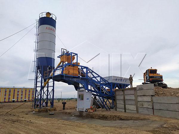 Мобильный бетонный завод в Убекистане