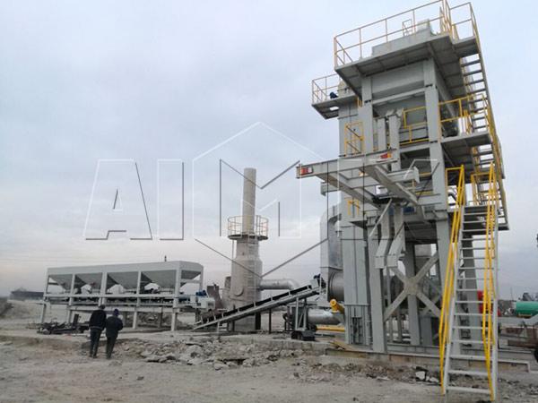 Передвижной асфальтный завод в Таджикистане