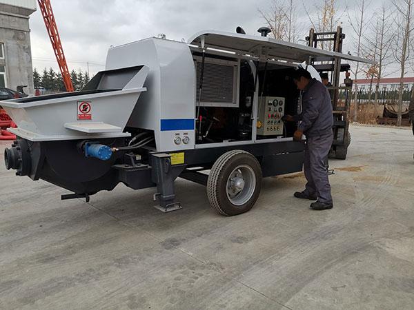 Боливия: бетононасос прицепной