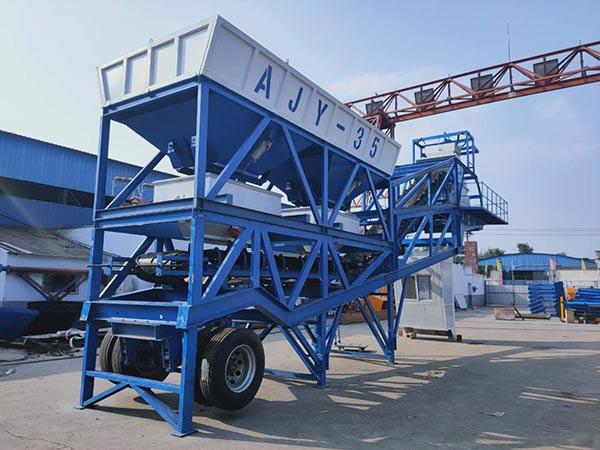 Мини мобильный бетонный завод 35 м3/ч