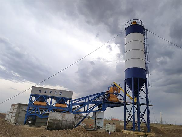 Мобильный бетонный узел в Узбекистане