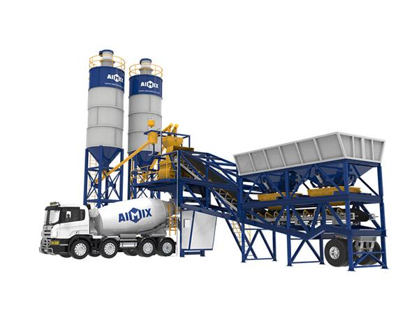 Мобильный бетонный завод серии AJY