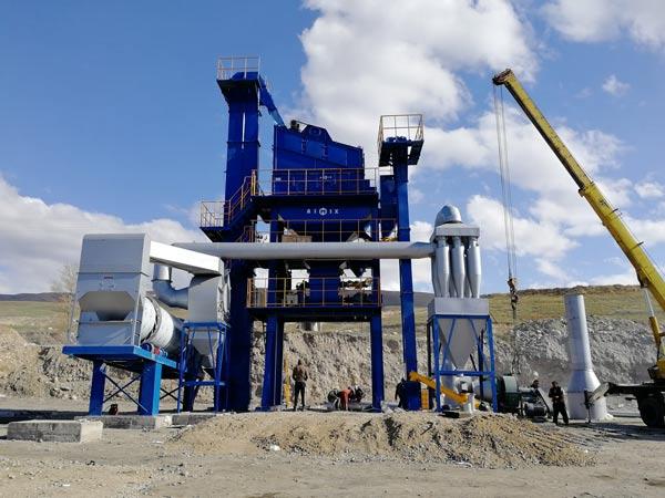 Стационарный асфальтный завод в Киргизстане