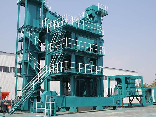 Стационарный асфальтобетонный завод у производителя