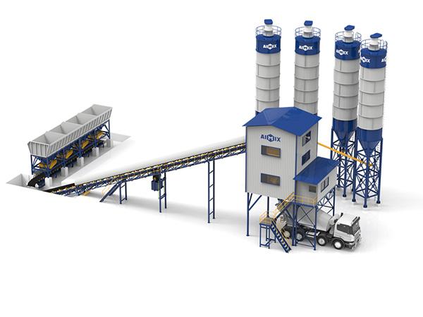 Стационарный бетонный завод - ленточный конвейер