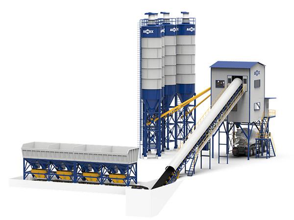 Стационарный бетонный завод серии AJ