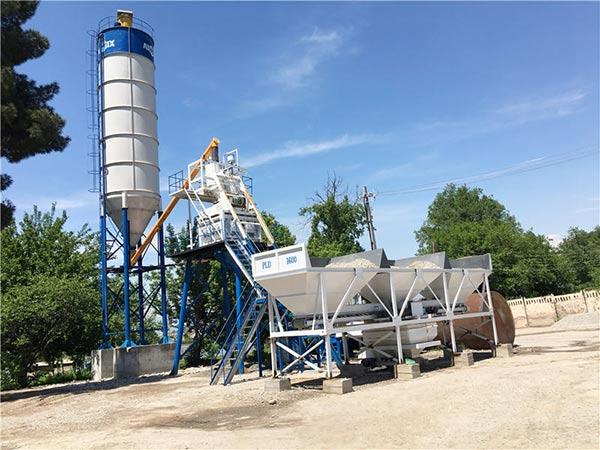 Стационарный бетонный завод в Таджикистане