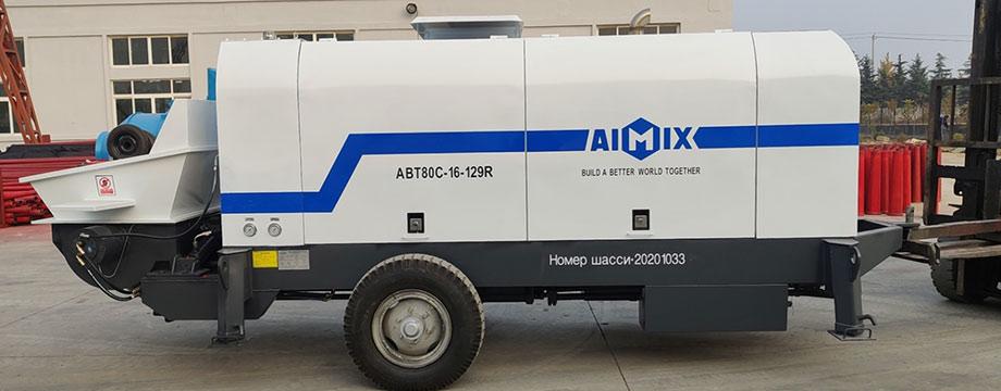 Бетононасос дизельный 80 м3/ч был экспортирован в России