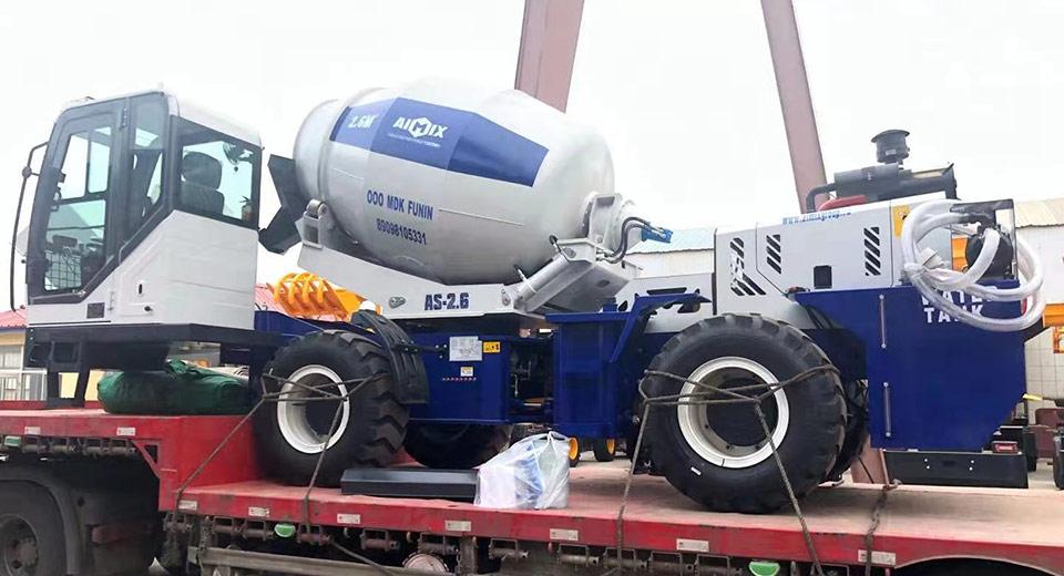 Самоходный бетоносмеситель AS-2.6 в России был отправлен