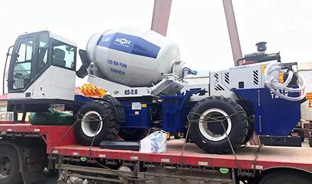 Самоходный бетоносмеситель в России был отправлен